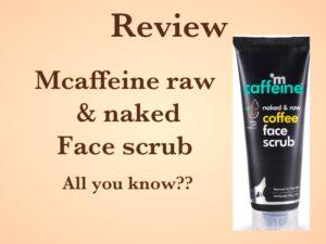 mCaffeine Face Scrub