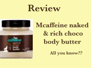 mCaffeine body butter Review