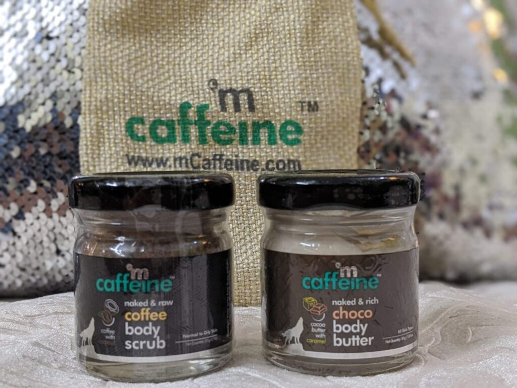 mCaffeine body butter and scrub