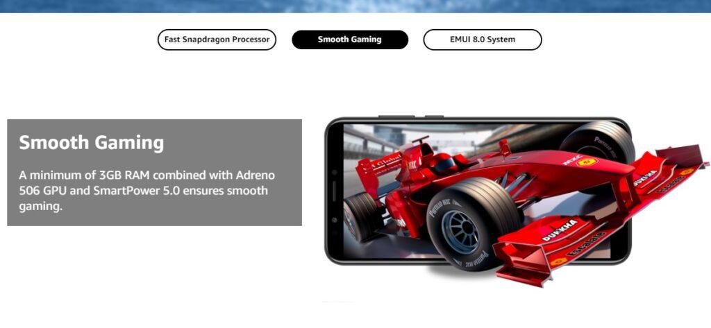 Honor 7C (Blue, 4GB RAM, 64GB Storage) best gaming phones under 15000 in India