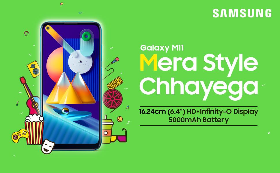 Samsung Galaxy M11 (Metallic Blue, 4GB RAM, 64GB Storage) best gaming phones under 15000 in India