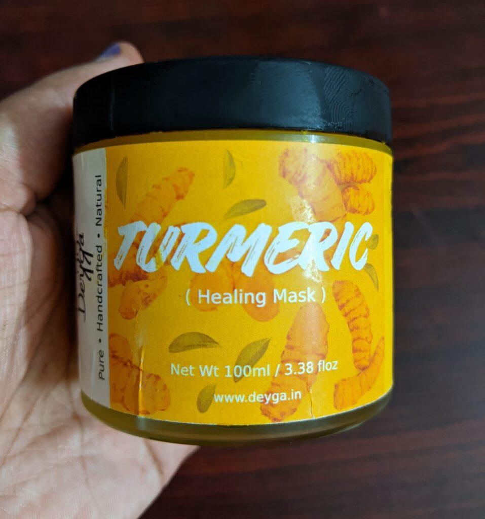 Deyga organics product Turmeric Healing Face Mask review